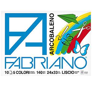 FABRIANO Album Arcobaleno - 24x33cm - 10 fogli - 140gr - 5 colori - Fabriano