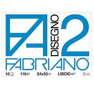 FABRIANO Album F2 -24x33cm - 10 fogli - 110gr - liscio - punto metallico - Fabriano