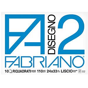 FABRIANO Album F2 - 24x33cm - 10 fogli - 110gr - liscio squadrato - punto metallo - Fabriano