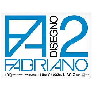FABRIANO Album F2 - 24x33cm - 10 fogli - 110gr - quadretto 5mm - punto metallo - Fabriano