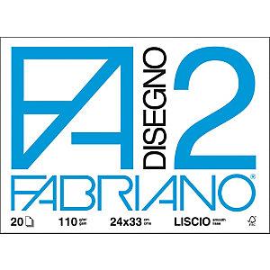 Fabriano Blocchi disegno F2 - Ruvido - F.to 24 x 33 cm - 110 g/mq - Conf. 20 fogli (confezione 20 fogli)