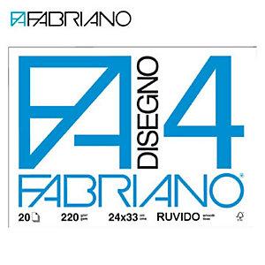 Fabriano Blocchi disegno F4 - Ruvido - F.to 24 x 33 cm - 200 g/mq - Conf. 20 fogli (confezione 20 fogli)