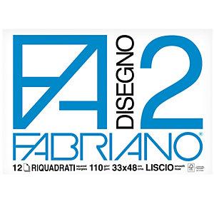 FABRIANO Blocco F2 - 33x48cm - 12 fogli - 110gr - liscio - squadrato - collato - Fabriano