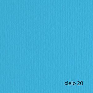 FABRIANO Cartoncino Elle Erre - 50x70cm - 220gr - cielo 120 - Fabriano - blister 20 fogli