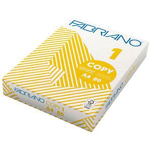 Fabriano Copy 1 Class Carta per fotocopie A4 per Fax, Fotocopiatrici, Stampanti Laser e Inkjet, 80 g/m², Bianco (risma 500 fogli)