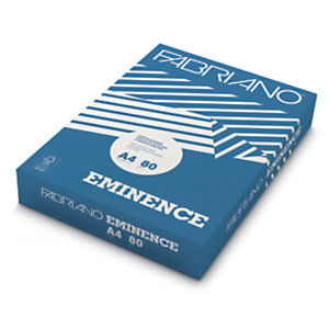 Fabriano Eminence Carta per fotocopie A4 per Fax, Fotocopiatrici, Stampanti Laser e Inkjet, 80 g/m², Bianco (risma 500 fogli)