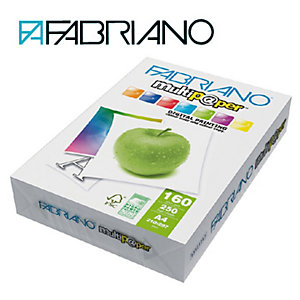 Fabriano Multip@per Carta multiuso A4 per Fax, Fotocopiatrici, Stampanti Laser e Inkjet, 160 g/m², Bianco (confezione 250 fogli)