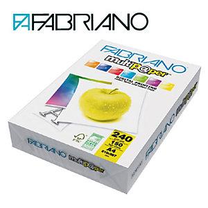 Fabriano Multip@per Carta multiuso A4 per Fax, Fotocopiatrici, Stampanti Laser e Inkjet, 240 g/m², Bianco (confezione 150 fogli)