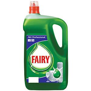 Fairy Detersivo per piatti, Limone, Verde, Uso professionale, Tappo dosatore, 5 l