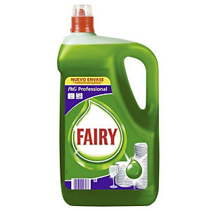 Fairy Lavavajillas Profesional Original Verde, 5 l, Biodegradable, Limpieza manual y Acabado profesional, Tapón Rosca