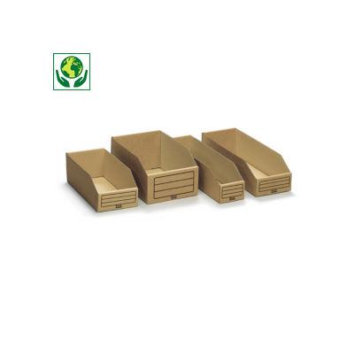 Faltbare Karton-Regalkästen, 72% recycelt