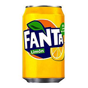 Fanta Limón Refresco, lata de 330 ml