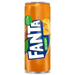 FANTA Orange, soda en canette slim de 33 cl (carton 24 x 330 millilitres)