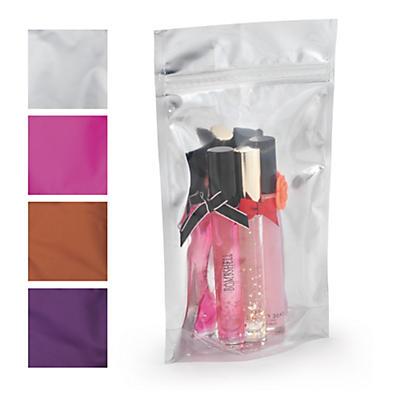 Sachet métallisé couleur##Farbige Druckverschlussbeutel in Metalloptik
