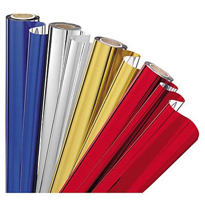 Farbige Geschenkfolie in Metalloptik