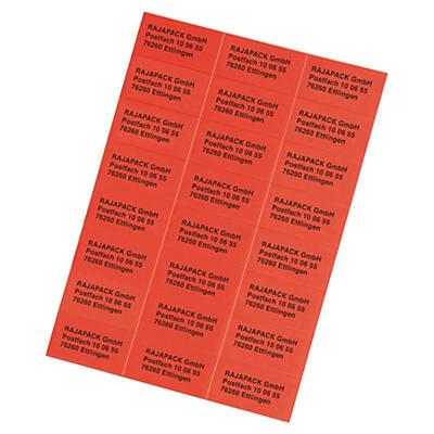 Étiquette couleur jet d'encre##Farbige Inkjet-, Laser- und Kopieretiketten