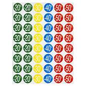 Farbige Klebepunkte mit Rabatten
