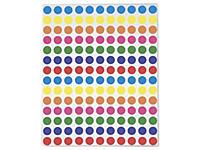 Farbige Markierungspunkte sortiert