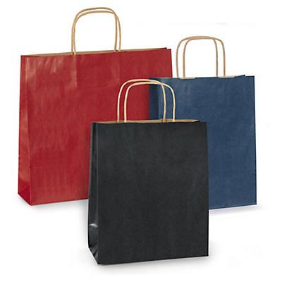Farbige Papier-Tragetaschen mit gedrehter Papierkordel