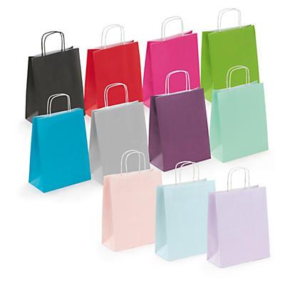 Farbige Papiertragetaschen Mini