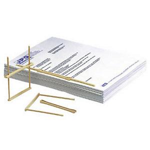 Fast Relieur d'archives plastique beige - 10 cm - Boîte de 100