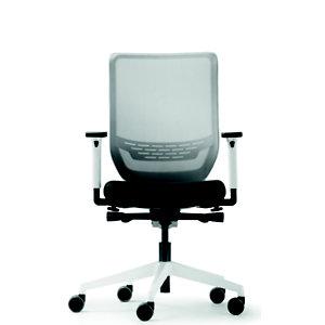 Fauteuil de bureau ergonomique To-sync, assise en tissu Noir, dossier résille Blanc