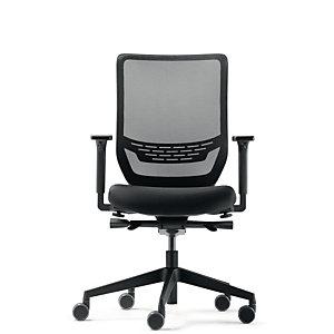 Fauteuil de bureau ergonomique To-sync, maille / tissu - Noir