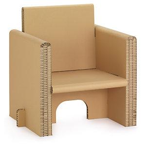 Fauteuil et chaise en carton alvéolaire
