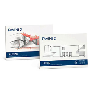 FAVINI Album Favini 2 - 33x48cm - 110gr - 10 fogli - liscio - Favini
