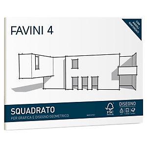 FAVINI Album favini 4 - 24x33cm - 220gr - 20 fogli - liscio squadrato - Favini