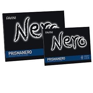 FAVINI Album Prismanero - 24x33cm - 10 fogli - 128gr - monoruvido - Favini