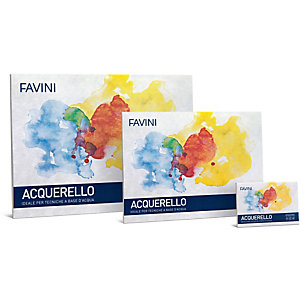 FAVINI Blocco Acquerello - 25x35cm - 340gr - 10 fogli - Favini