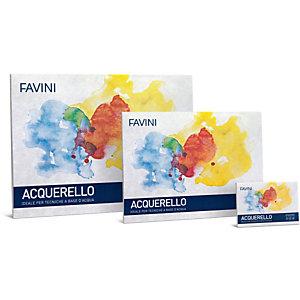 FAVINI Blocco Acquerello - 35x50cm - 340gr - 10 fogli - Favini