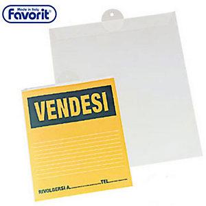 FAVORIT Busta porta avvisi, 220 x 300 mm (confezione 10 pezzi)