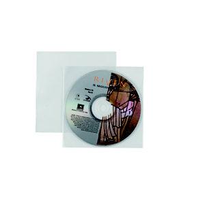 FAVORIT Busta porta CD/DVD singola, Formato 12 x 12 cm (confezione 25 pezzi)