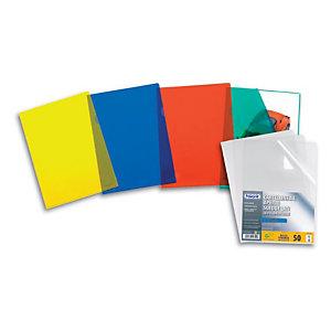 "FAVORIT Buste a ""L"" Pratic - Spessore 105 micron - Colore Trasparente - Finitura liscia (confezione 50 pezzi)"