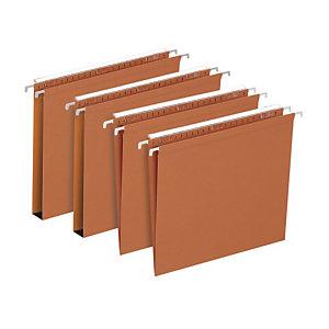 FAVORIT Cartelle sospese per cassetti Defi, Interasse 33 cm, Fondo a V, Arancio (confezione 25 pezzi)