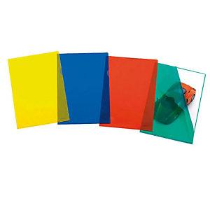 FAVORIT Pratic Superior Busta a L, A4+, Polipropilene 105 micron, Goffrata, Rosso trasparente (confezione 50 pezzi)