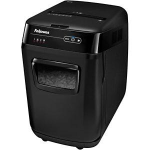 Fellowes AutoMax™ 200C Destructora automática de corte cruzado, 200 hojas, 32 l, destruye grapas, tarjetas de crédito, clips y CDs/DVDs