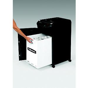 Fellowes AutoMax™ 350C Destructora automática de corte cruzado, 350 hojas, 68 l, destruye grapas, tarjetas de crédito, clips y CDs/DVDs