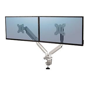 Fellowes Braccio monitor doppio, Platinum Series, Argento