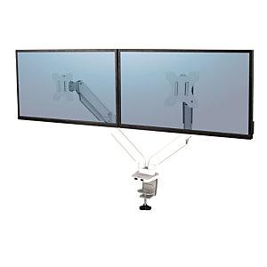 Fellowes Braccio monitor doppio, Platinum Series, Bianco