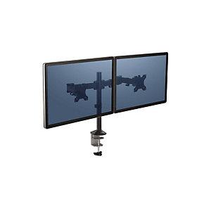Fellowes Braccio porta monitor doppio Reflex Series, Nero
