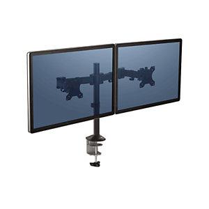 Fellowes Bras porte-écran double Reflex - Noir