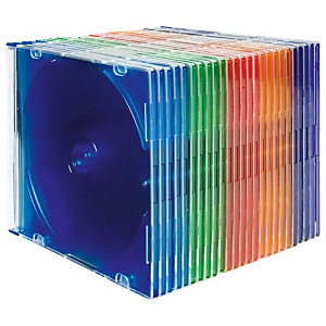 Fellowes Cajas para CDs estrecha - surtido