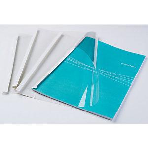 FELLOWES Couvertures pour reliure thermique, 3 mm, blanc (paquet 100 feuilles)