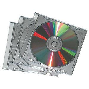 Fellowes Custodie per CD/DVD formato Classic - Colori nero (confezione 5 pezzi)