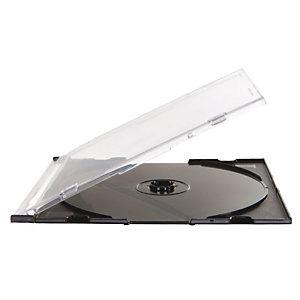 Fellowes Custodie per CD/DVD formato Slim - Colore nero (confezione 25 pezzi)