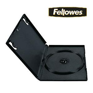 Fellowes Custodie per DVD versione Normale, Capacità 1 DVD (confezione 5 pezzi)