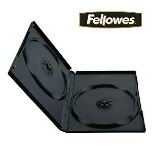 Fellowes Custodie per DVD versione Slim, Capacità 2 DVD (confezione 10 pezzi)